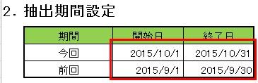 GoogleAnalytics自動レポート作成ツールでの日付の設定の仕方