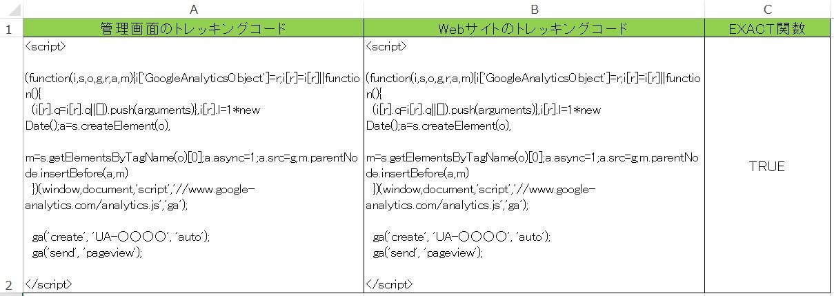 exact関数での検証の仕方について